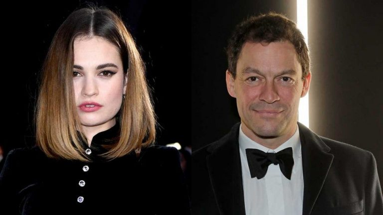 Lily James linked romantically to Dominic West